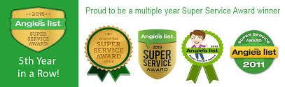 Carpet and Upholstery Angie's List Super Service Award Six years in a row