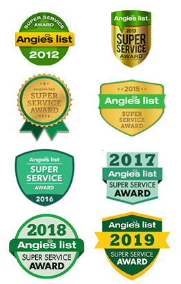 Best of Angie's List Super Service Award 9 nine years Carpet Upholstery Cleaners