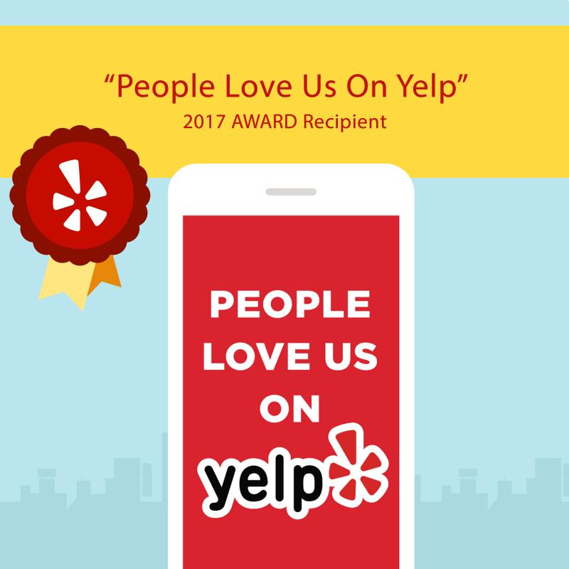 People Love Us on Yelp Top rated service award best carpet cleaning reviews