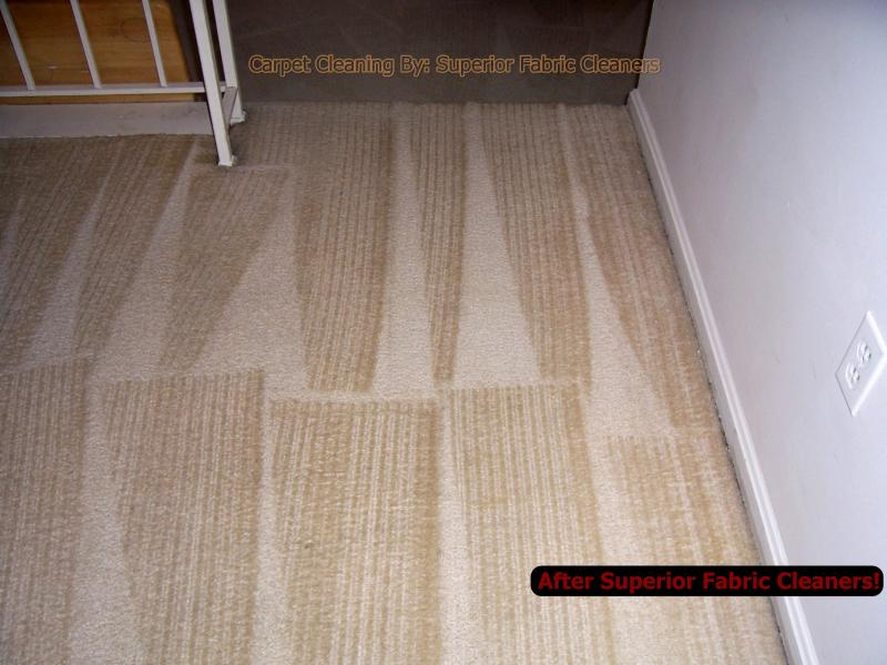 soiled traffic area in off white dining room carpet after carpet cleaning pic