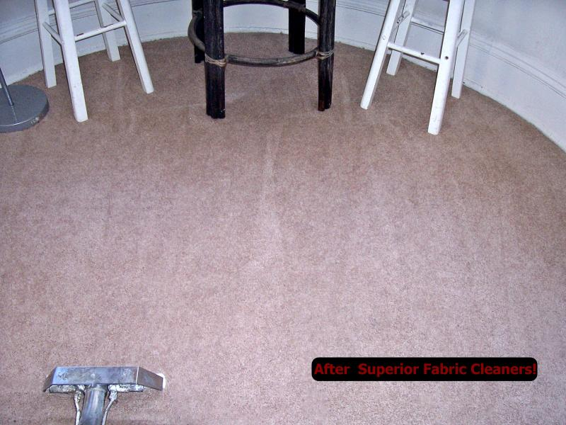 Brown wall to wall filthy after professional carpet cleaning picture