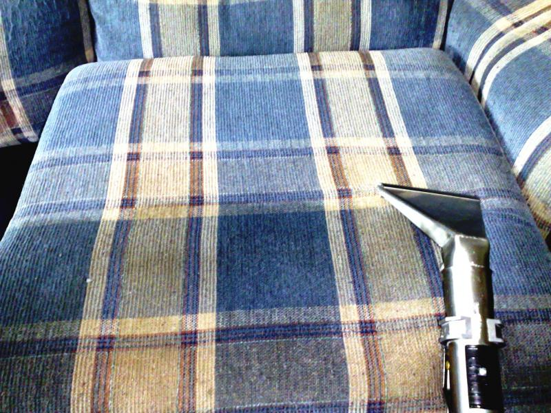 truck mount deep steam cleaning soiled patterned upholstery - most thorough